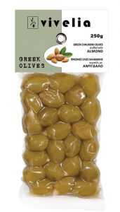 Chalkidiki Green Stuffed Olives with almond